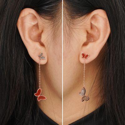 Schwarze Achat Ohrringe