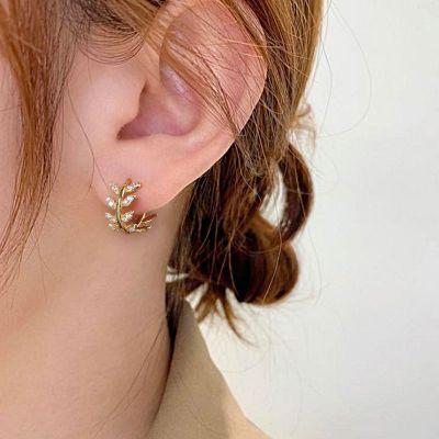Olivenblätter Ohrringe