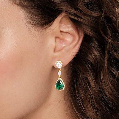 Tropfen geschnittene Kristall Ohrringe
