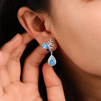 Tropfen Ohrringe Marineblau