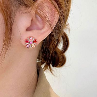 Ohrringe Kristallblume