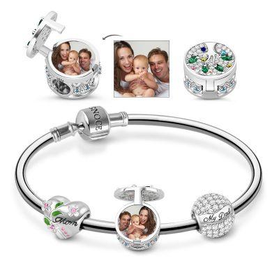 Familienfoto Charm Armband