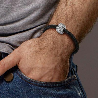 Wolf & Totenkopf Charm Armband