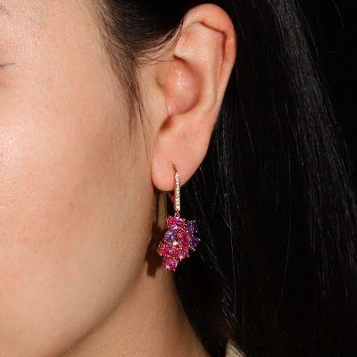 Trauben Anhänger Ohrringe