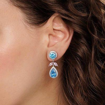 Blaue Tropfenstein Ohrringe