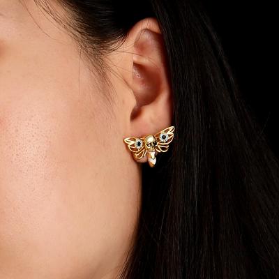 Schädel und Biene 18K Ohrringe