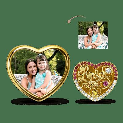 Liebe Mutter Foto Charm