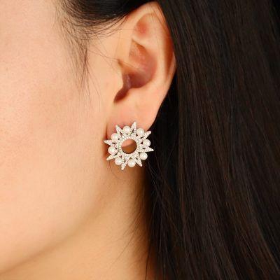 Labo Stern und Perlen Ohrringe