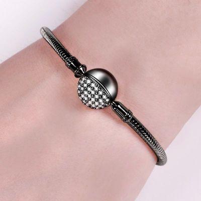 Schwarz rund Armband
