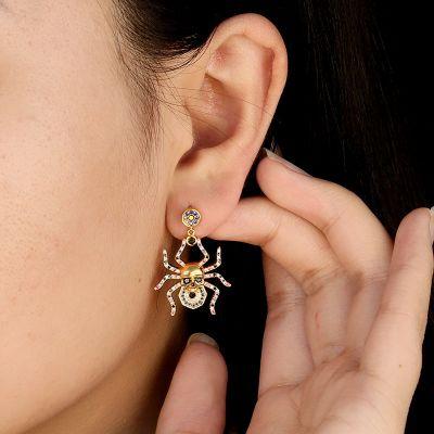 Schädel und Spinnen Ohrringe
