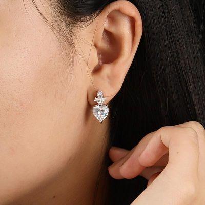 Herz Diamant Anhänger Ohrringe