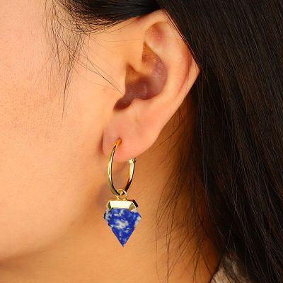 Blaue Dreiecksohrringe