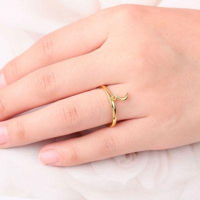 Halbmond Offener Ring