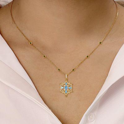 Blaue Ruder Halskette