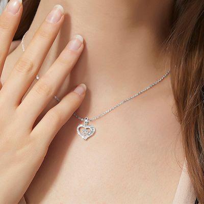 Herzförmige Charm Halskette