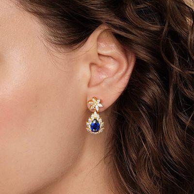 Blaue Blüten Ohrringe