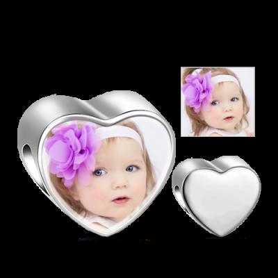 Herzförmiger Foto Anhänger