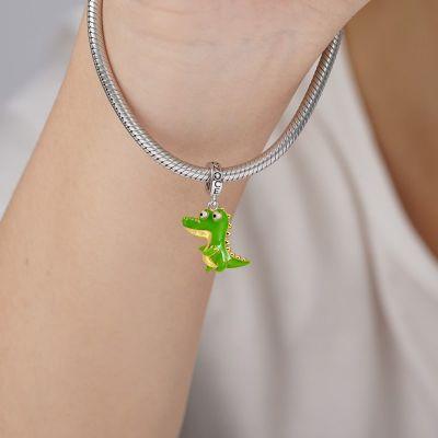 Grünes Krokodil Anhänger