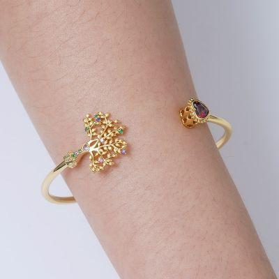 Lebensbaum & Herz Armband