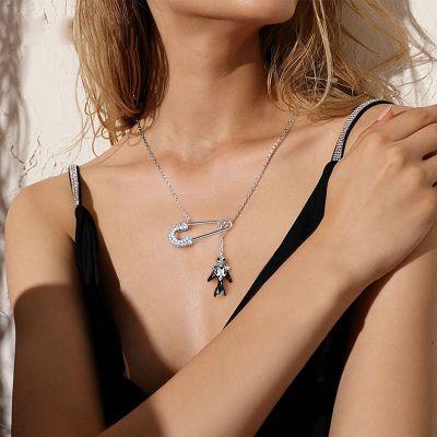 Totenkopf Sicherheitsnadel Halskette