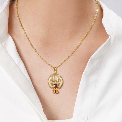 Goldene Phönix Halskette