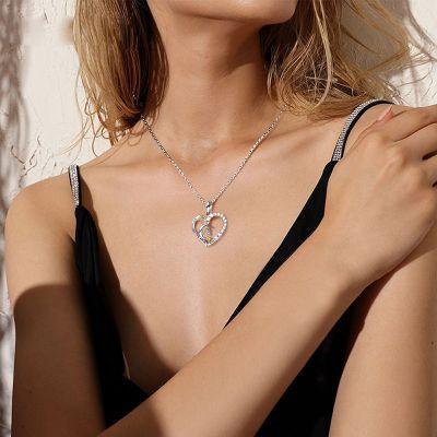 Mond & Stern Herz Halskette