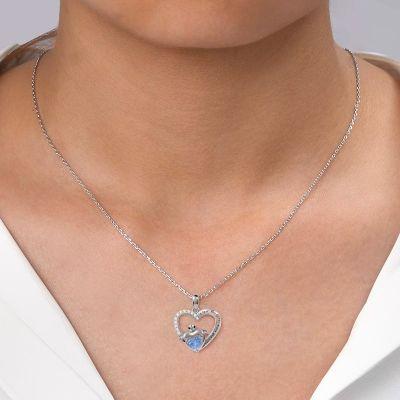 Herzförmige Schildkröte Halskette