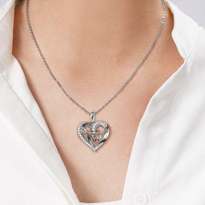 Dreifaches Herz Halskette