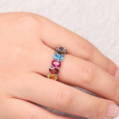 Regenbogen ovales Ring