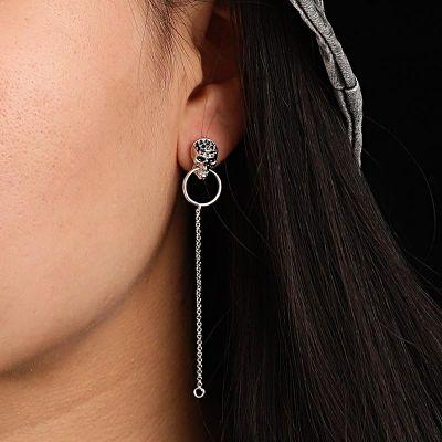 Schädel Anhänger Ohrringe