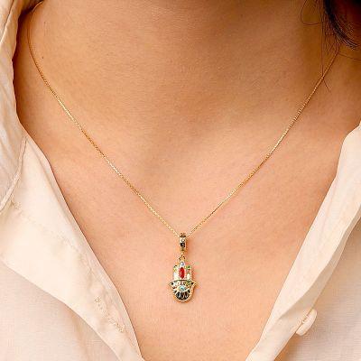 Hand der Fatima Halskette