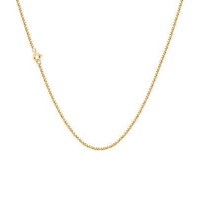 Gold Plated Brass Box Chain