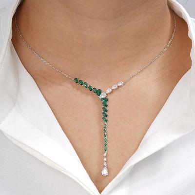 Grüne Stein Halskette