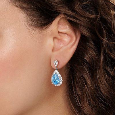 Blaustein Anhänger Ohrringe
