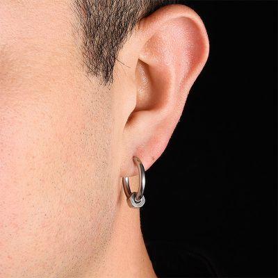 Herren ringartige Ohrringe