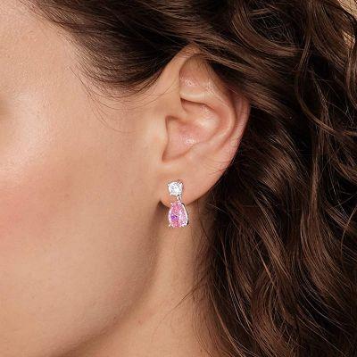 Rosa Tropfen Ohrringe