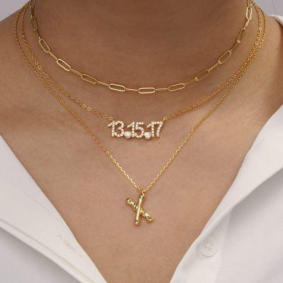 Bambus Halskette X