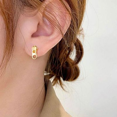 Reißverschluss Ohrringe