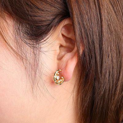 Weiße Kristall Ohrringe