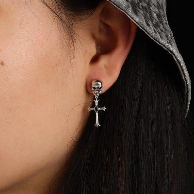 Schädel mit Kreuz Ohrringen