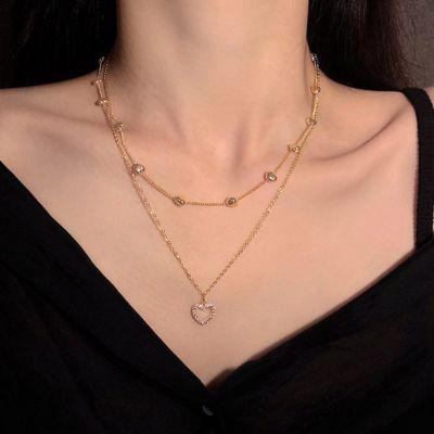 Liebesherz geschichtete Halskette