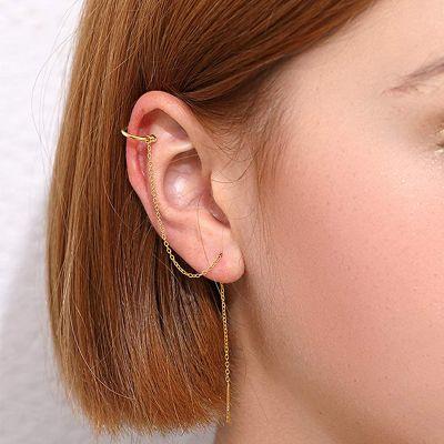 Nappa durchzieher Ohrringe
