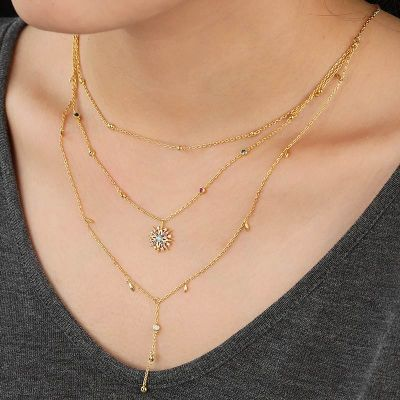 Achtzackige Sternen Halskette