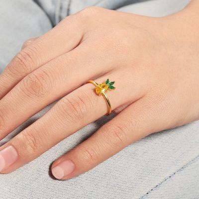 Ananas verstellbarer Ring