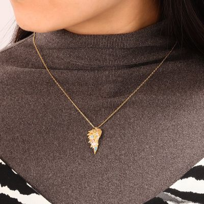Flügel Halskette