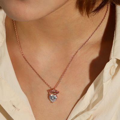 Herz mit Kronen Halskette