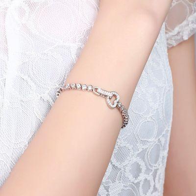 Herzform Schnalle Tennis Armband