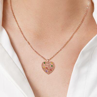 Herz Lebensbaum Halskette