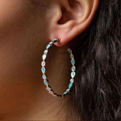 Opal Ohrringe