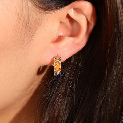 Farbige Kreis Ohrringe